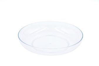 "Clear Plastic Lomey Designer Dish - 6"" (24 pcs)"