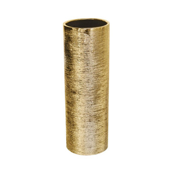 "CYL0512GX - Textured Gold Cylinder Ceramic - 5"" x 12"" (12 pcs)"