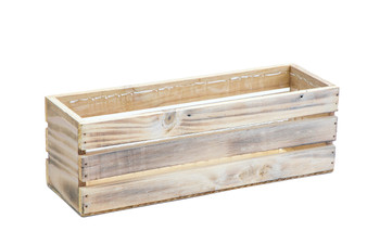 "WBR1244WC - White Washed Wine Crate Long Box - 12"" (6 pcs)"