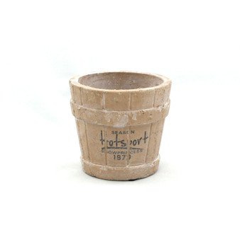 "RTR0504 - Faux Terracotta Wooden Bucket, Low Fire Ceramic - 4.5"" (24 pcs)"