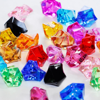 ACRO01 - Acrylic Crystal Rocks, Various Colors (14 oz)