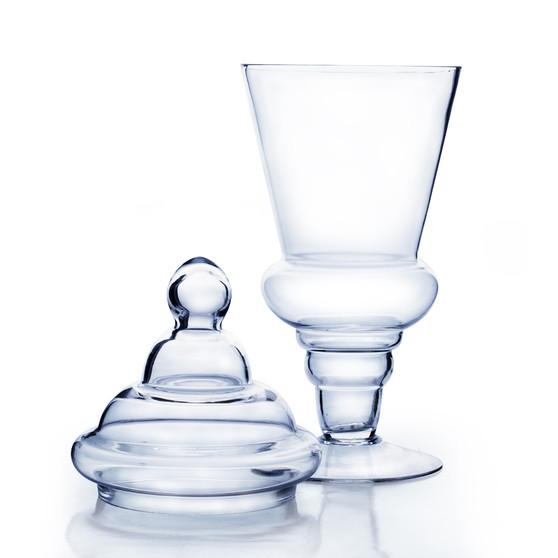 """Apothecary / Candy Buffet Jar - Large Pedestal Jar with Lid, 20.5"""" (4 pcs)"""