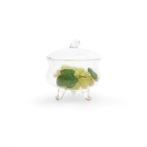 """VAP0708 - Apothecary / Candy Buffet Jar - Footed Cauldron with Lid, 8.5"""" (4 pcs/case)"""