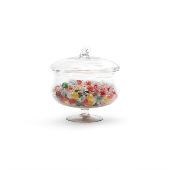 "VAP0808 - Apothecary / Candy Buffet Jar - Pedestal Cauldron with Lid, 8.5"" (4 pcs/case)"