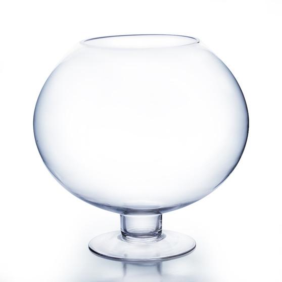 "VBW0916 Bowl Glass Vase with Stem - 9""x16"" (1 pc)"