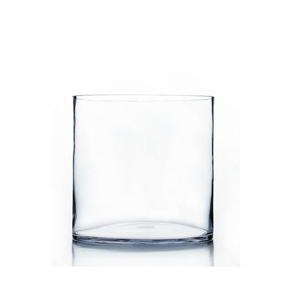 "VCY0910 - Clear Cylinder Glass Vase - 9"" x 10"" (2 pcs/case)"