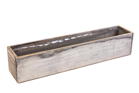 "WBR2044RS - Rustic Wood Planter Long Box - 20"" (6 pcs)"