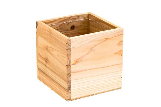 """WCB0004NA - Natural Wood Planter Box - 4"""" (12 pcs)"""