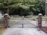 Decorative Fence Ideas using Faux Stone Columns