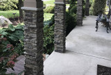 Faux Stone Column Wraps Give Existing Posts Added Style