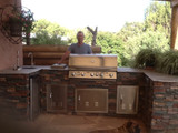 Building an Outdoor BBQ Island: Southwest Style