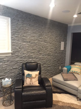 Covering Finished Basement Walls with the Look of Stone