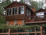 Lake House Siding Design with Fieldstone