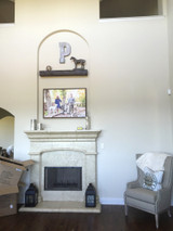 Fireplace Alcove Remodel: Small Mantel, Big New Look