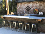 Rustic Outdoor Kitchen Design with Reclaimed Barn Board