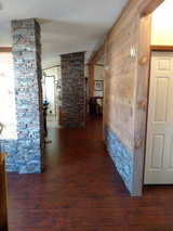 Update Wainscoting With Stacked Stone