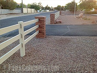 Gorgeous Entrance Columns for a DIY Driveway Makeover