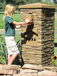 Installing Polyurethane Foam Columns and Mail Boxes