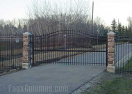 Impressive Driveway Entry Columns: Faux Stone Style
