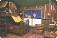 See the Finished Room: Faux Wood Panels on Extreme Makeover