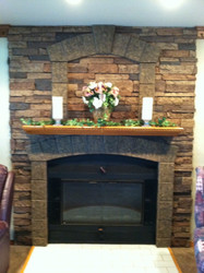 Stone Fireplace Design with Class A Fire Rated Panels