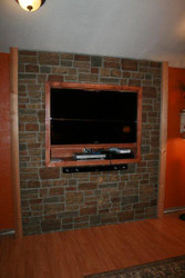 Brick Fireplace Remodel with Ledgestone