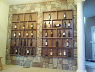 Vintage Wine Gets a Vintage Look with Faux Stone Panels