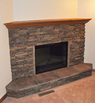 Classic Fireplace Redesign with Dry Stack Panels