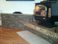 Building a Wood Stove Platform with a Dry Stack Stone Look