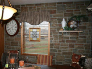 Cozy Kitchen Wall Remodel with Ledgestone
