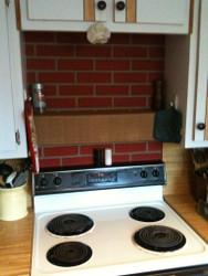 Cool Kitchen Backsplash with Leftover Panels