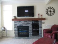 So-So to Stunning! Building a Ledgestone Fireplace with Veneer