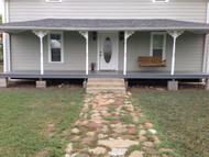 Simple DIY Porch Remodeling with Ledgestone Panels