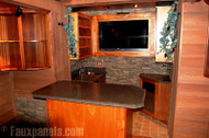 Beautiful Entertainment Center Wall Designs with Stone Veneer