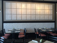 Restaurant Interior Design Enhanced Easily with Faux Panels