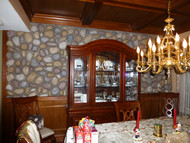 Dining Room Makeover with River Rock