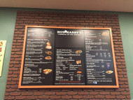 Menu Board Design at Hot Harry's Burritos