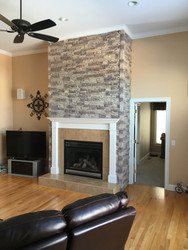 Fireplace Facing Project: Adding Some Atmosphere with Stacked Stone