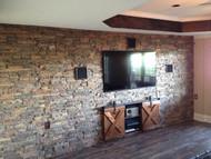 Basement TV Wall Adds Farmhouse Style