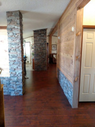 Covering Up Old Wainscoting with Stacked Stone