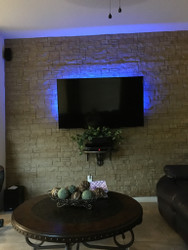 TV Wall Design Project: Backlit Beauty