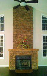 A Fantastic Fireplace Built from Scratch