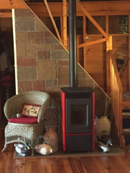Staircase Turned Wood Stove Surround