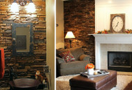 2-for-1 Remodel: Fireplace & Powder Room Accent Walls