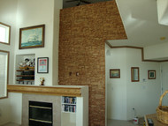 Fast and Fantastic! Fireplace Wall Created in Two Weekends
