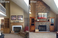 Reface a Fireplace with the Look of Stone or Brick