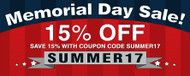 The 2017 Memorial Day Sale Starts Now! Save 15% on Popular Styles