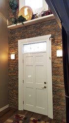 A DIY Accent Wall Adds Drama to a Doorway