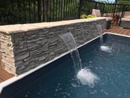 Home Exterior Ideas: DIY Pool Waterfall