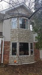 Bay Window Exterior Design with Fieldstone